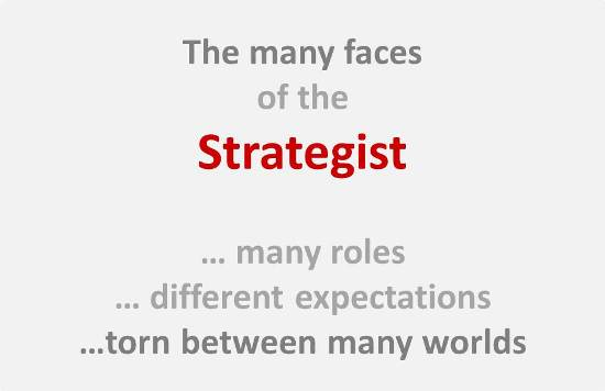 A strategist has many roles and many faces